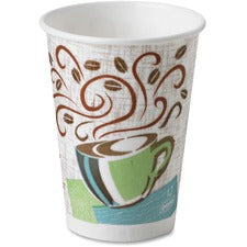 PerfecTouch Dixie Coffee Haze Hot Cups - 50 - 12 fl oz - 1000 / Carton - Coffee Haze - Paper - Hot Drink