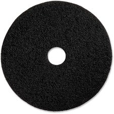 "Genuine Joe Advanced Design Floor Pads - 20"" Diameter - 5/Carton x 20"" Diameter x 1"" Thickness - Black"