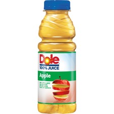 Dole Bottled Apple Juice - Apple Flavor - 15.20 fl oz (450 mL) - Bottle - 12 / Carton
