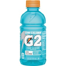 Gatorade Low-Calorie Gatorade Sports Drink - Glacier Freeze Flavor - 12 fl oz (355 mL) - Bottle - 24 / Carton