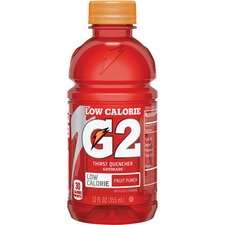Gatorade Quaker Foods G2 Fruit Punch Sports Drink - Fruit Punch Flavor - 12 fl oz (355 mL) - Bottle - 24 / Carton
