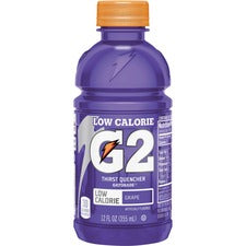 Gatorade Low-Calorie Gatorade Sports Drink - Grape Flavor - 12 fl oz (355 mL) - Bottle - 24 / Carton