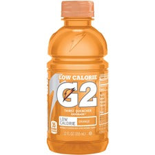Gatorade Low-Calorie Gatorade Sports Drink - Orange Flavor - 12 fl oz (355 mL) - Bottle - 24 / Carton