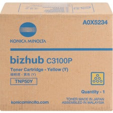 Konica Minolta TNP50Y Toner Cartridge - Yellow - Laser - 6000 Pages - 1 Each