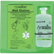 "Eyesaline Eyewash Station - 2 lb - 4.5"" x 14"" x 13"" - Green, Clear"