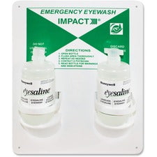 "Impact Products Double Eyewash Station - 16 oz - 13"" x 4"" x 11"" - White"