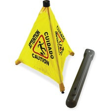 "Impact Products 20"" Pop Up Safety Cone - 1 Each - 20"" Height - Cone Shape - Plastic - Yellow, Black"
