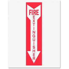 Tarifold Magneto Safety Sign Inserts - Fire Extinguisher - 6 / Pack - Fire Extinguisher Print/Message - Red Print/Message Color - Tear Resistant, Durable, Water Proof, Long Lasting - White, Red