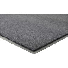 "Genuine Joe Silver Series Indoor Entry Mat - Building, Carpet, Hard Floor - 10 ft Length x 36"" Width - Plush - Charcoal"