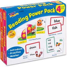 Trend Level A Reading Power Pack - Theme/Subject: Learning - Skill Learning: Mathematics, Word Picture, Sight Words, Alphabet Puzzle, Reading, Phonic - 56 Pieces - 3+