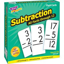 Trend Subtraction all facts through 12 Flash Cards - Theme/Subject: Learning - Skill Learning: Subtraction - 169 Pieces - 6+