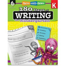 Shell Education Grade K 180 Days of Writing Book Printed Book - Shell Educational Publishing Publication - Book - Grade K