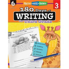 Shell Education 3rd Grade 180 Days of Writing Book Printed Book - Shell Educational Publishing Publication - Book - Grade 3