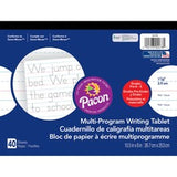"Pacon Multi-Program Handwriting Tablet - 40 Sheets - Both Side Ruling Surface - Ruled - 1.13"" Ruled - 10 1/2"" x 8"" - White Paper - Assorted Cover - Chipboard Backing, Recyclable, Film-wrapped - 1Each"