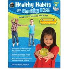 Teacher Created Resources Gr K Healthy Habits Workbook Education Printed/Electronic Book - Book, CD-ROM - 96 Pages