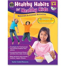 Teacher Created Resources Gr 3-4 Healthy Habits Workbk Education Printed/Electronic Book - Book, CD-ROM - 96 Pages