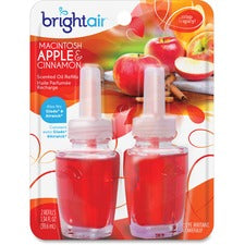 Bright Air Scented Oil Warmer Air Freshener Refill - Oil - Macintosh Apple, Cinnamon - 45 Day - 12 / Carton - Long Lasting