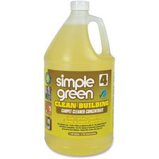 Simple Green Clean Building Carpet Cleaner Concentrate - Concentrate Liquid - 128 fl oz (4 quart) - 2 / Carton - Sand