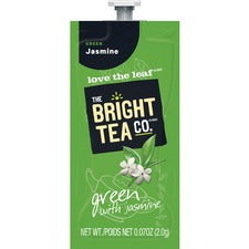 Bright Tea Co Green Tea with Jasmine - Compatible with Flavia - Green Tea - Jasmine - 100 / Carton