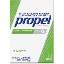 Propel Water Beverage Mix Packets with Electrolytes and Vitamins - Powder - Kiwi Strawberry Flavor - 0.08 oz - 120 / Carton