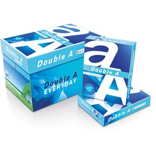 "Double A Everyday Copy & Multipurpose Paper - Letter - 8 1/2"" x 11"" - 20 lb Basis Weight - Smooth - 10 / Carton - White"
