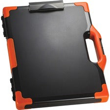 "OIC Clipboard Storage Box - Tablet, Notebook - 8 1/2"", 8 1/2"" x 11"", 14"" - Black, Orange - 1 Each"