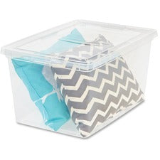 "IRIS Deep Modular Snap-tight Lid Clear Box - External Dimensions: 24"" Length x 16.3"" Width x 14"" Height - 17 gal - Stackable - Clear - For Blanket, Comforter - 6 / Carton"