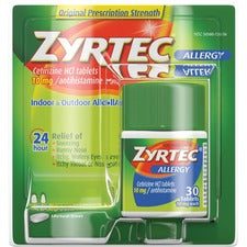 Zyrtec AllergyTablets - For Runny Nose, Sneezing, Itchy Throat - 30 / Box