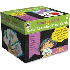 Carson-Dellosa Early Learning Flash Cards - Theme/Subject: Learning - Skill Learning: Alphabet, Color, Shape, Sight Words, Number, Phonic, First Word - 4-8 Year