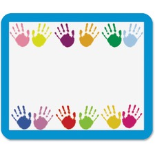 "Carson-Dellosa Grades PreK-5 Handprints Name Tags - 3"" Width x 2 1/2"" Length - Rectangle - Multicolor - 40 Total Label(s) - 40 / Pack"