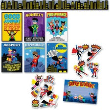 Creative Teaching Press Superhero Bulletin Board Set - Learning, Superhero Theme/Subject - Multicolor - 10 / Pack