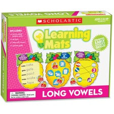 Scholastic Res. Grade K-2 Long Vowels Learning Mats - Theme/Subject: Learning - Skill Learning: Letter Sound, Long Vowels, Vocabulary, Decoding, Word - 60 Pieces