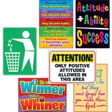 "Trend Attitude Matters Posters Combo Pack - 13.4"" Width x 19"" Height - Multicolor"