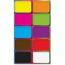 "Ashley Colors Design Mini Whiteboard Eraser - 2"" Width x 1.50"" Length - Lightweight, Comfortable Grip - Multicolor - 10 / Pack"