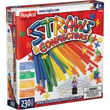 Roylco Straws & Connectors Building Set - Recommended For 4 Year - 230 Piece(s) - 230 / Pack - Assorted