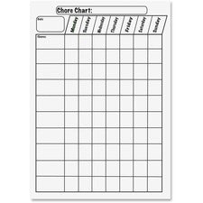 "Ashley Big Magnetic Chore Chart - 12"" (1 ft) Width x 15"" (1.3 ft) Height - Rectangle - 1 Each"