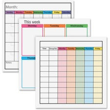 "Flipside Frameworks Dry-erase Chart Class Set - 24"" (2 ft) Width x 24"" (2 ft) Height - Assorted Surface - Square - 1 Set"