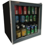 Avanti 1.6 cubic foot Beverage Cooler - 1.60 ft³ - Reversible - 1.60 ft³ Net Refrigerator Capacity - 120 V AC - 265 kWh per Year - Glass Door - Freestanding