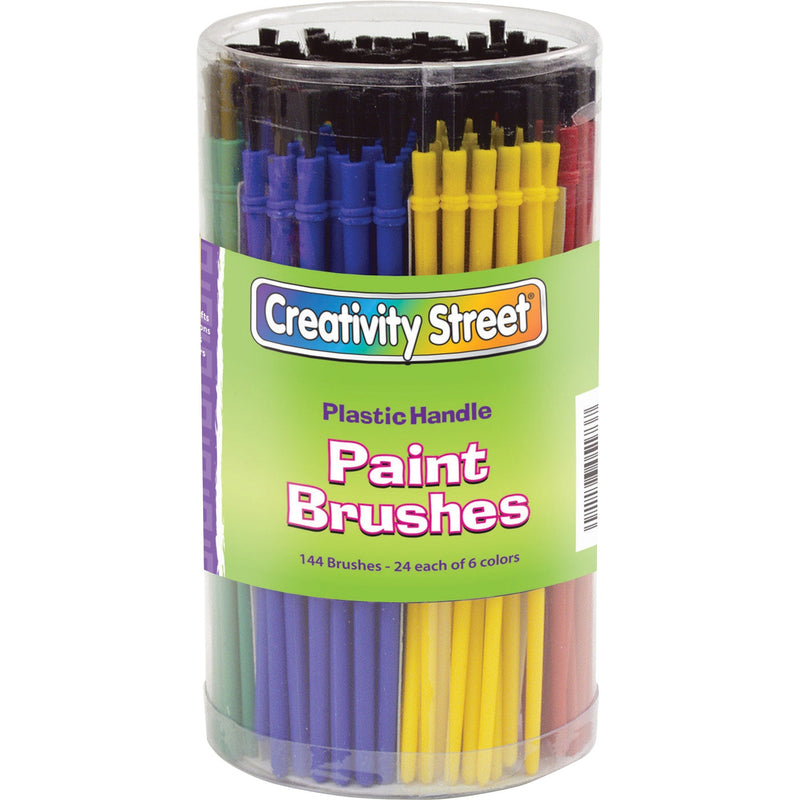 Creativity Street Canister of Paint Brushes - 144 Brush(es) - Assorted Plastic