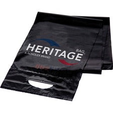 "Heritage Litelift 32-gallon Contractor Bags - 32 gal - 33"" Width x 46"" Length x 2.50 mil (63 Micron) Thickness - Black - 50/Carton - Can, Garbage"