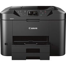 Canon MAXIFY MB2720 Inkjet Multifunction Printer - Color - Copier/Fax/Printer/Scanner - 600 x 1200 dpi Print - Automatic Duplex Print - 1200 dpi Optical Scan - 500 sheets Input - Ethernet - Wireless LAN - Mopria