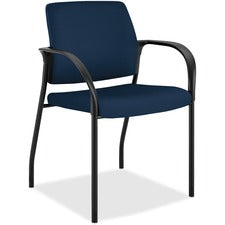 "HON Ignition 4-Leg Stacking Chair - Navy Foam Seat - Navy Back - Four-legged Base - 18.50"" Seat Width x 18.13"" Seat Depth - 25"" Width x 21.8"" Depth x 33.5"" Height - 1 Each"