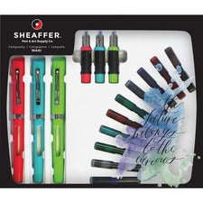 Cross Maxi Calligraphy Kit - Red, Green, Purple, Turquoise, Brown, Blue, Black, Black/Blue Ink - 1 Each