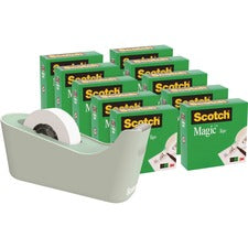 Scotch Magic Tape Dispenser Value Pack - Vinyl - Dispenser Included - 1 Pack - Mint