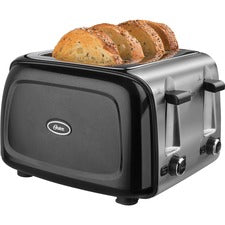 Oster 4-slice Toaster - 1600 W - Toast, Bagel - Black, Chrome