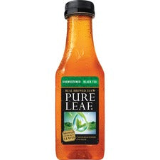 Pure Leaf Unsweetened Black Tea - Black Tea - 18 oz - 12 / Carton