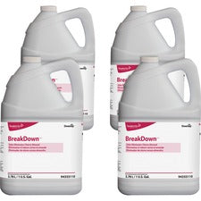 Diversey BreakDown Odor Eliminator - Concentrate Liquid - 1 gal (128 fl oz) - Cherry Almond Scent - 4 / Carton - Red