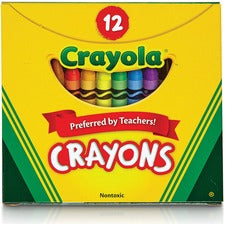 Crayola Tuck Box 12 Crayons - Assorted - 12 / Pack