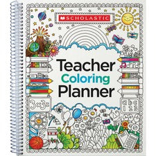 "Scholastic Doodle Weekly/Monthly Teaching Planner - Monthly, Weekly - Multi - 11.1"" Height x 9.9"" Width - 1 Each"