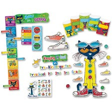 "Teacher Created Resources Pete The Cat Bulletin Board Set - Fun Theme/Subject - Acid-free - 2"" Height x 18"" Width x 30.25"" Length - Multicolor - 1 Set"